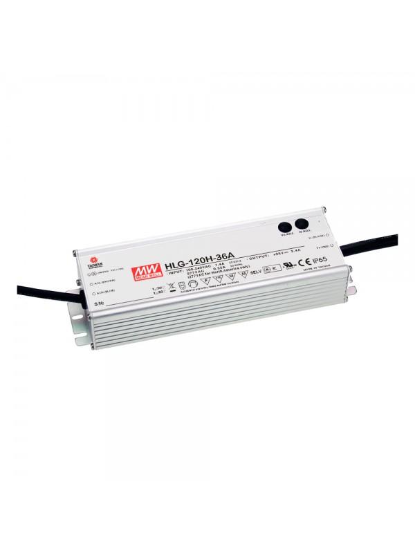 HLG-120H-36A Zasilacz LED 120W 36V 3.4A