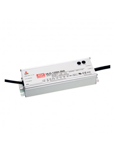 HLG-120H-36C Zasilacz LED 120W 36V 3.4A