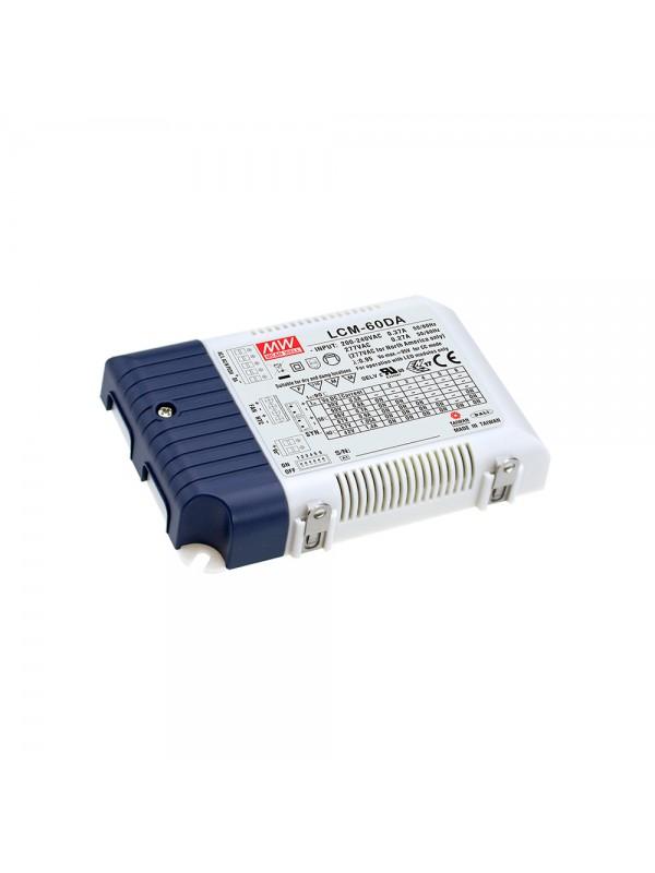 LCM-60DA Zasilacz LED 60W 2~90V 0.5~1.4A
