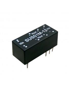 SUS01O-12 Moduł DC/DC 1W 48V±10%/ 12V 0.084A