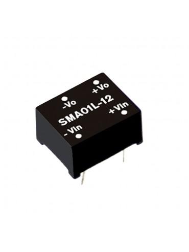 SMA01N-12 Moduł DC/DC 1W 24V±10%/ 12V 0.084A