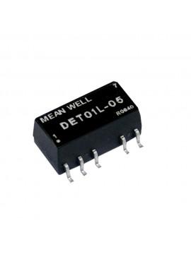 DET01L-05 Moduł DC/DC 1W 5V±10%/ ±5V ±0.1A