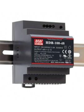 HDR-100-48 Zasilacz na szynę DIN 100W 48V 1.92A