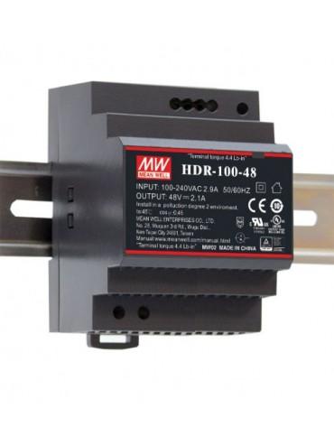 HDR-100-12N Zasilacz na szynę DIN 100W 12V 7.31A