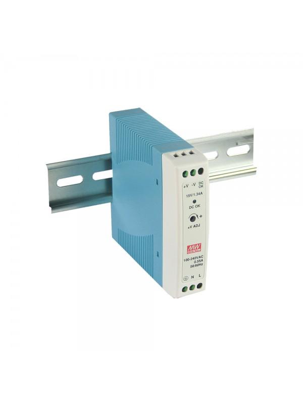 MDR-20-24 Zasilacz na szynę DIN 20W 24V 1A