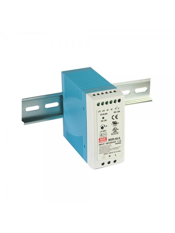 MDR-40-48 Zasilacz na szynę DIN 40W 48V 0.83A