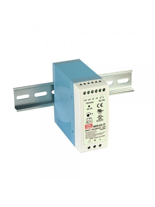 MDR-60-12 Zasilacz na szynę DIN 60W 12V 5A