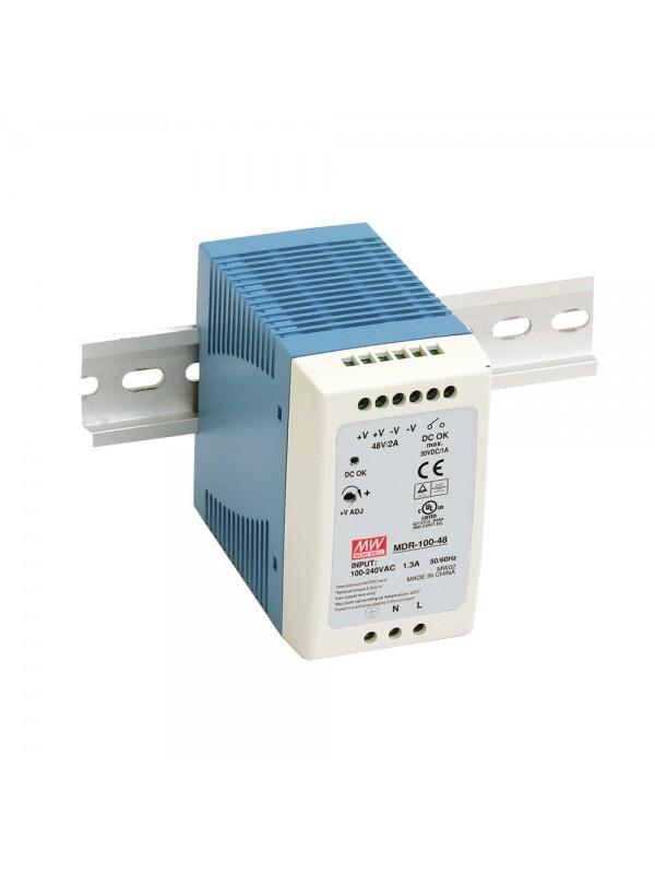 MDR-100-24 Zasilacz na szynę DIN 100W 24V 4A