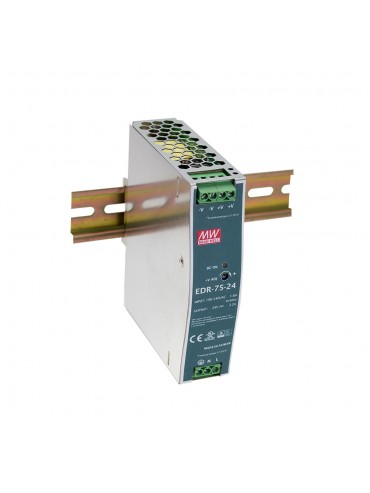EDR-75-12 Zasilacz na szynę DIN 75W 12V 6.3A