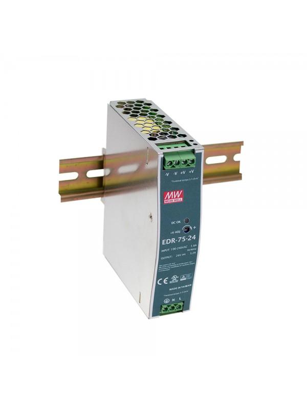 EDR-75-48 Zasilacz na szynę DIN 75W 48V 1.6A