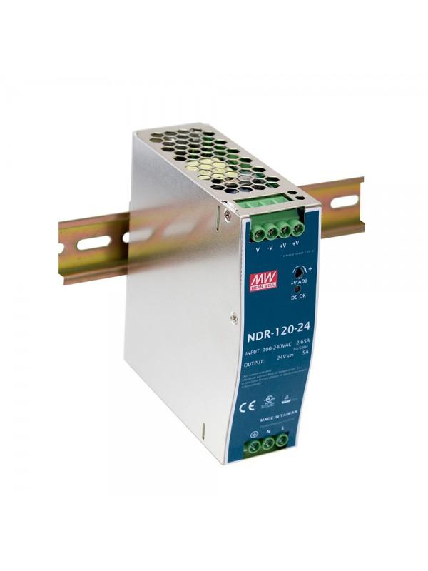 NDR-120-12 Zasilacz na szynę DIN 120W 12V 10A