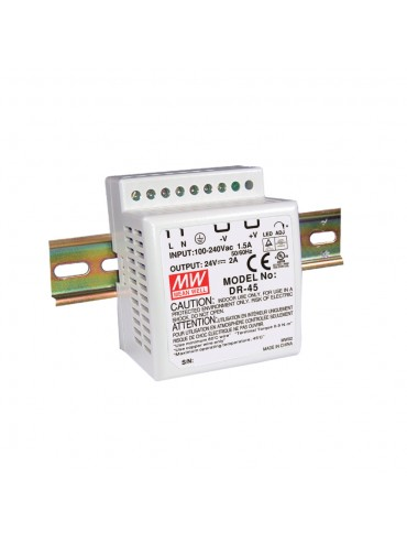 DR-4512 Zasilacz na szynę DIN 45W 12V 3.5A