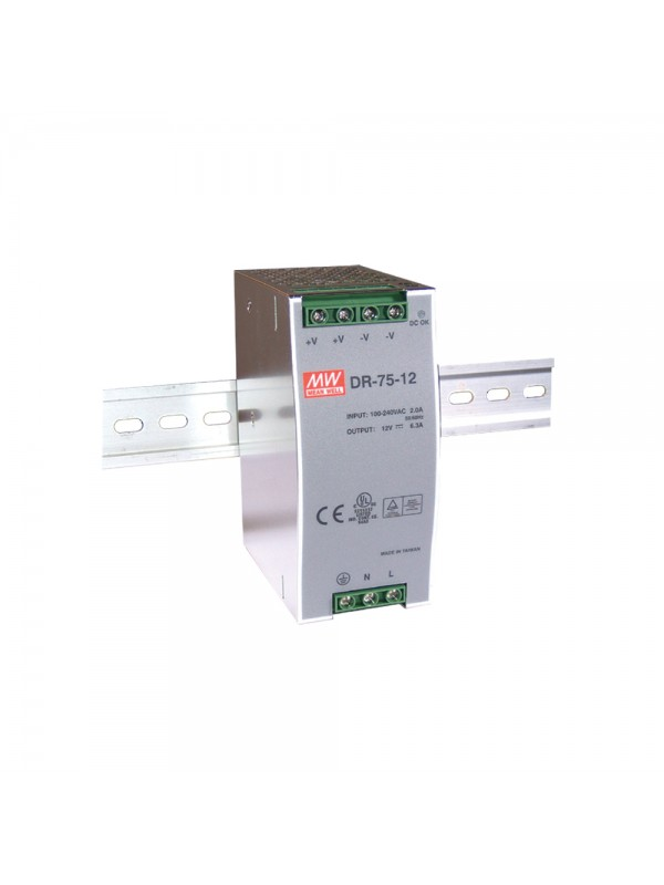 DR-75-48 Zasilacz na szynę DIN 75W 48V 1.6A
