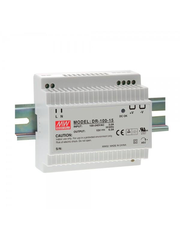 DR-100-12 Zasilacz na szynę DIN 100W 12V 7.5A