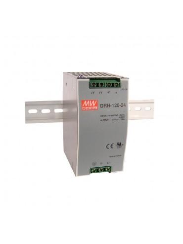 DRH-120-24 Zasilacz na szynę DIN 1-fazowy 120W 24V