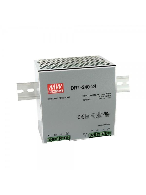 DRT-240-24 Zasilacz na szynę DIN 3-fazowy 240W 24V