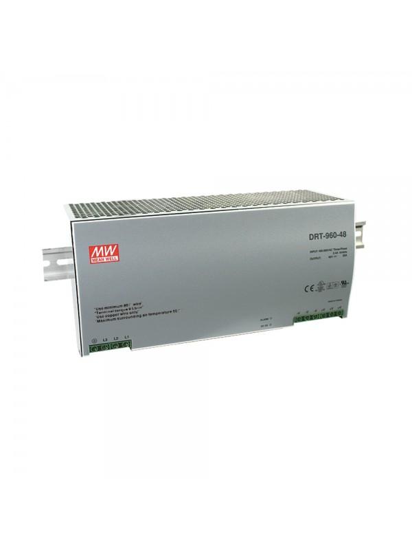 DRT-960-48 Zasilacz na szynę DIN 3-fazowy 960W 48V