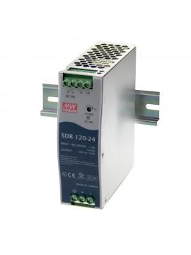 SDR-120-24 Zasilacz na szynę DIN 120W 24V 5A