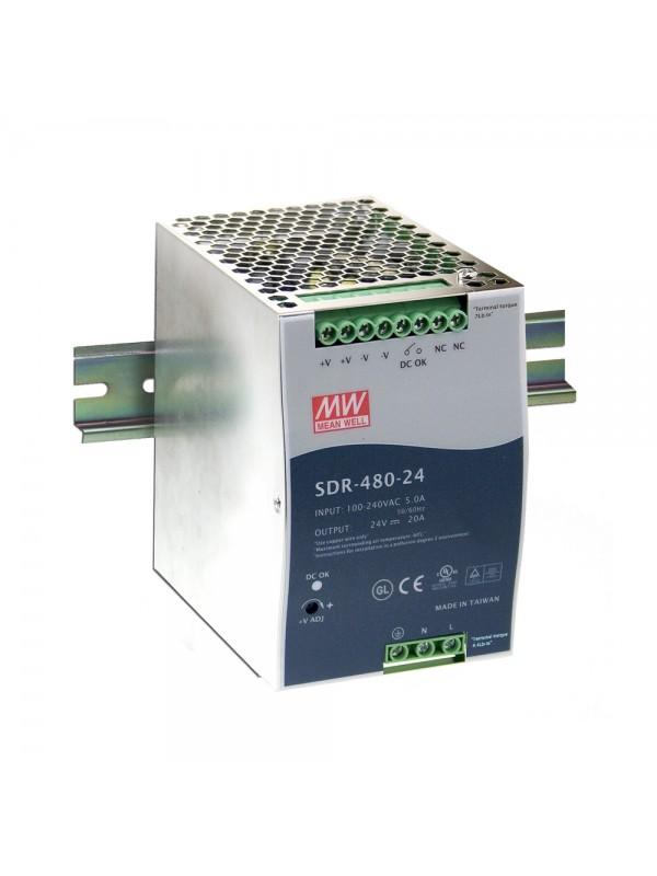 SDR-480-48 Zasilacz na szynę DIN 480W 48V 10A