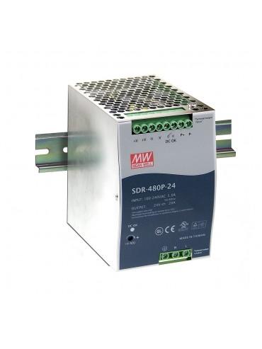 SDR-480P-24 Zasilacz na szynę DIN 480W 24V 20A