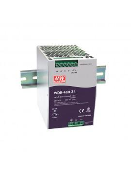 WDR-480-24 Zasilacz na szynę DIN 480W 24V 20A